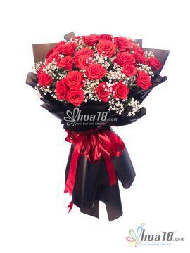 bó hoa tươi hồng to