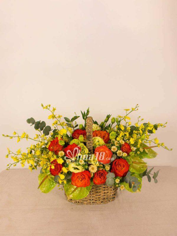 giỏ hoa tươi