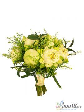 hoa cuới cầm tay cô dâu