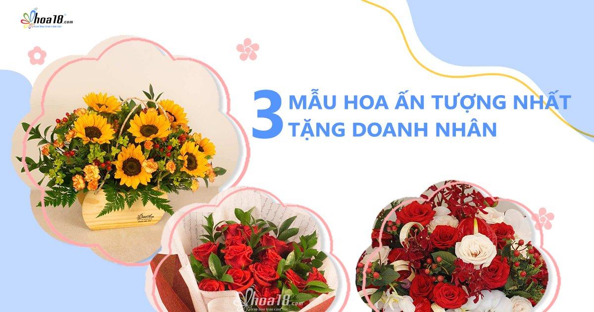 TOP 3 mẫu hoa đẹp chúc mừng ngày doanh nhân Việt Nam không thể bỏ qua