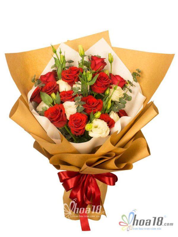 Bó hoa hồng tươi